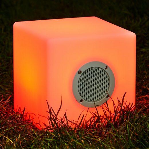 Betterlighting Außenleuchte »Cube Bari«, 2in1: Musikbox+Leuchte, BxH: 20x20 cm