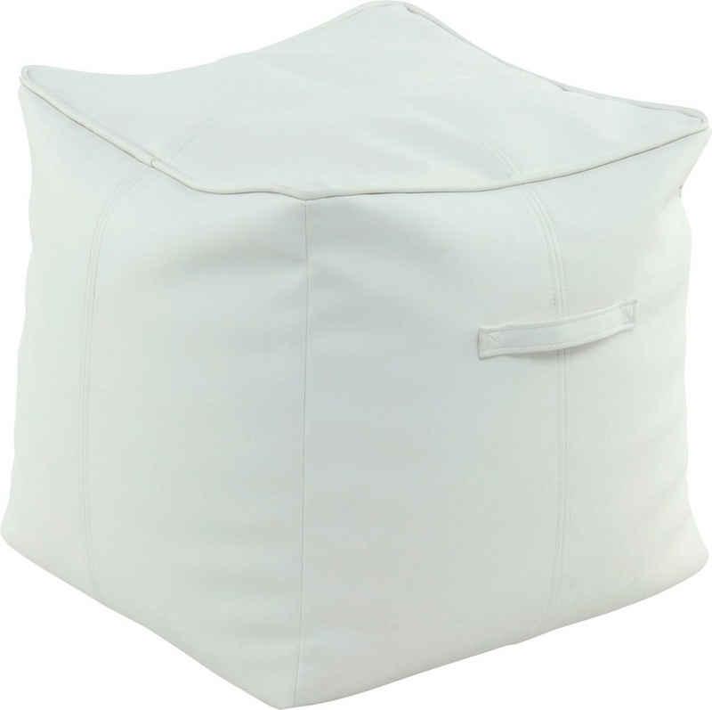 Kayoom Sitzwürfel »Pouf Travis 825« (1 St), allergikerfreundlich