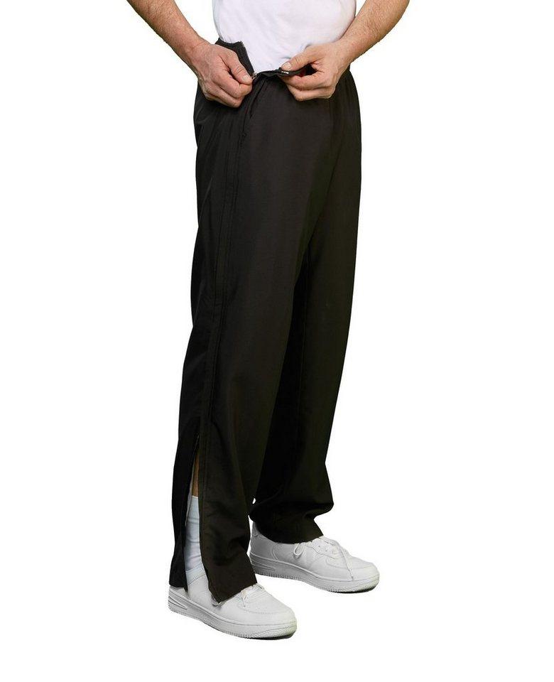 Erima Hose mit durchgehendem Reißverschluss Damen Trainingshose Zip Sport Hose