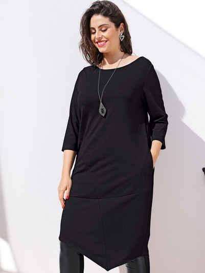 MIAMODA Longshirt mit femininem Ausschnitt