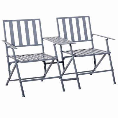 Outsunny Gartenstuhl »Doppel-Gartenstuhl mit Tisch klappbar«