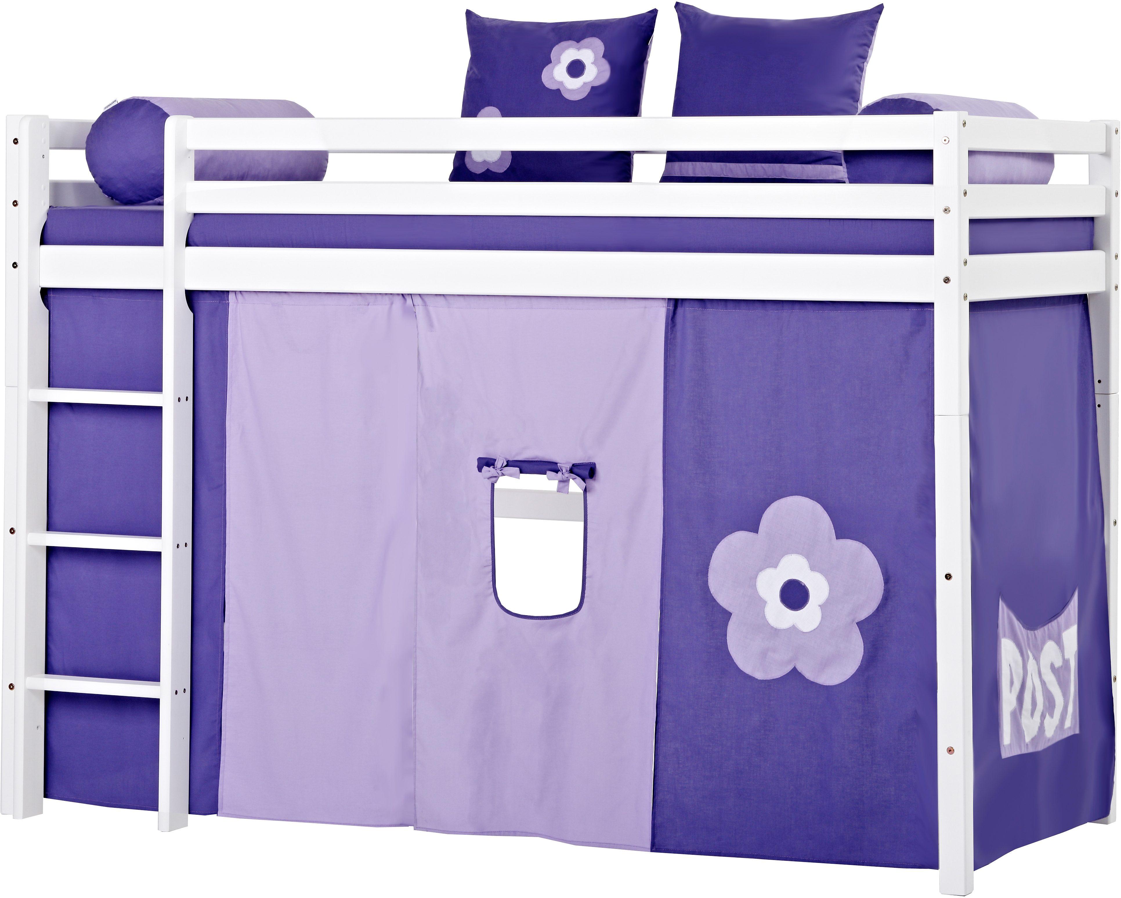 Mittelhohes Hochbett, Hoppekids, »Purple Flower«