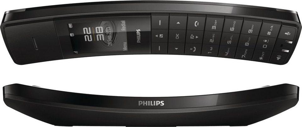 Philips M8881 Schnurloses DECT Telefon mit AB in Schwarz