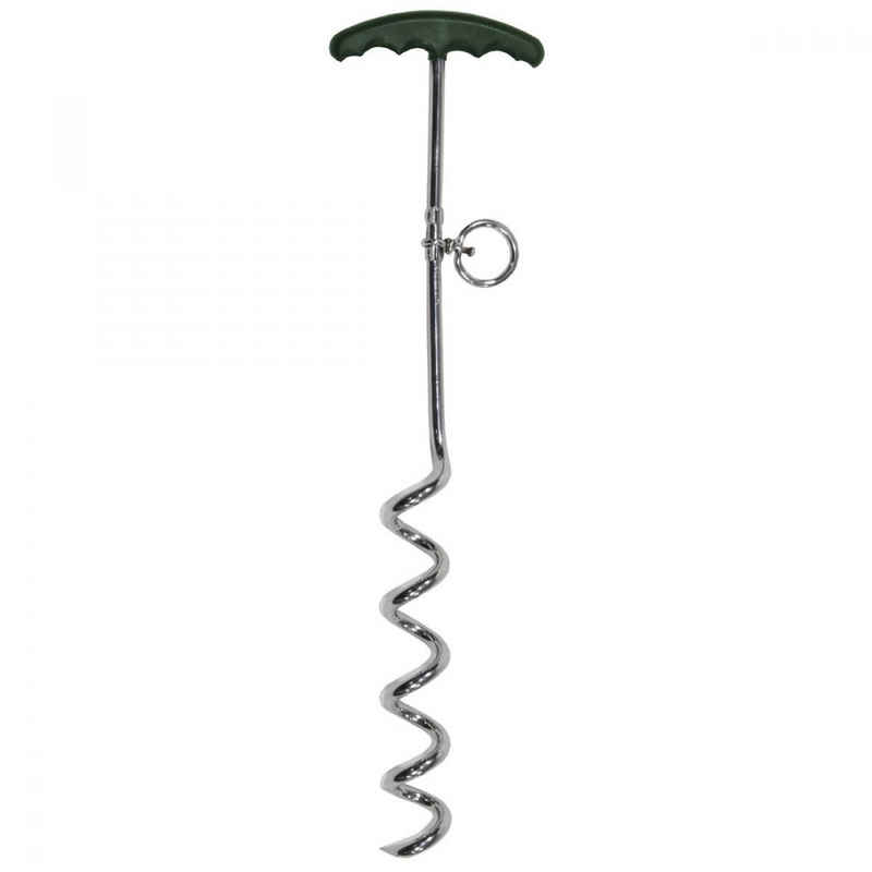 MFH Zehenring »Spiral-Hering, Metall, mit Plastikgriff, 45 cm«, Plastikgriff für komfortables Eindrehen