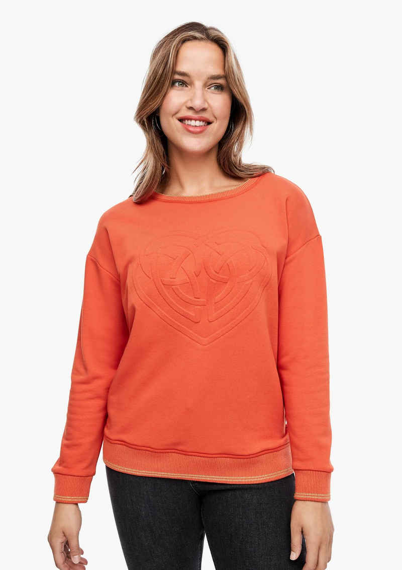 TRIANGLE Sweatshirt »Sweatshirt mit 3D-Print« (1-tlg) Glitzergarn