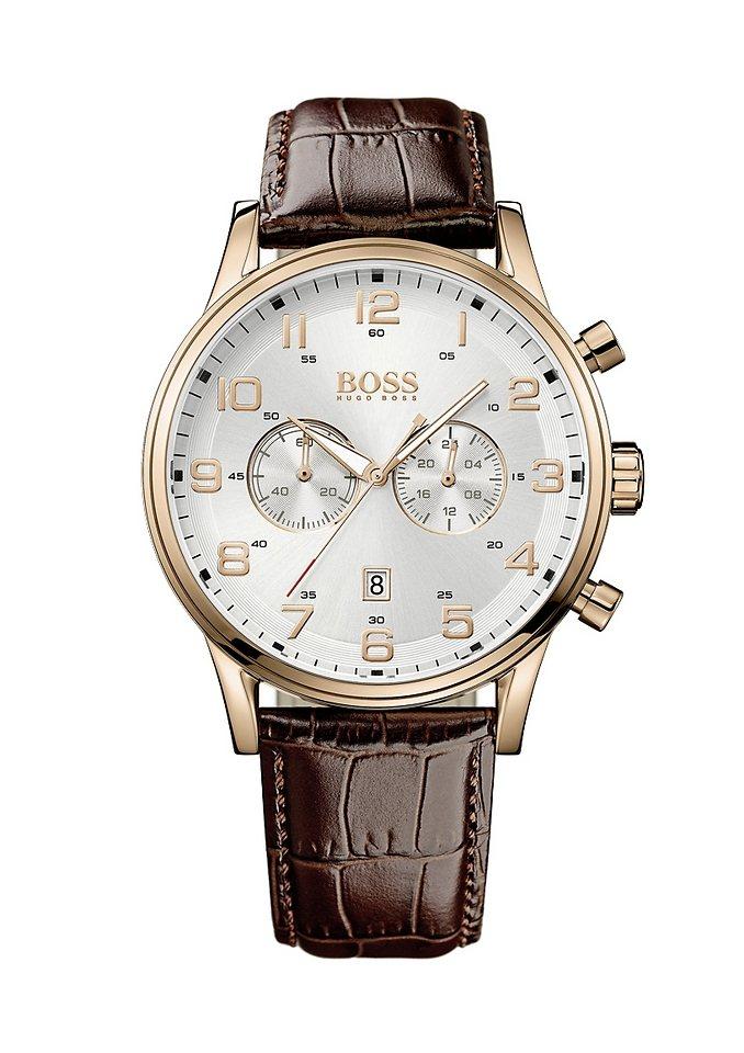Boss Chronograph »AEROLINER CHRONO, 1512921« in braun