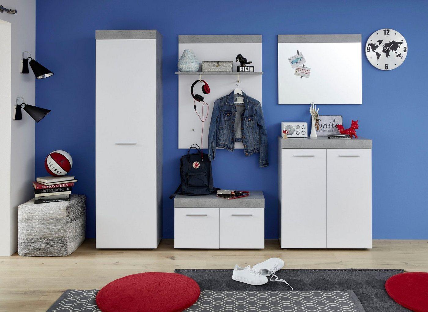 In moderner, zweifarbiger Gestaltung präsentiert sich das 5-teilige Gardero günstig online kaufen