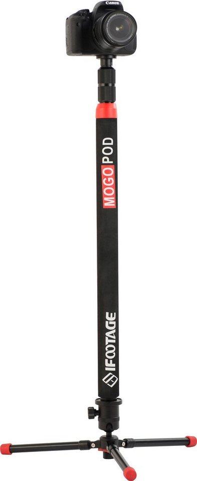 Rollei Mogopod 1 Einbeinstativ Einbeinstativ mit Blitz-Halterung und Mikrofon-Ständer in schwarz