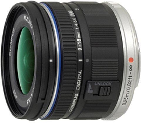 Olympus PEN ZUIKO DIGITAL ED 9-18mm 1:4.0-5.6 Weitwinkel Objektiv in schwarz