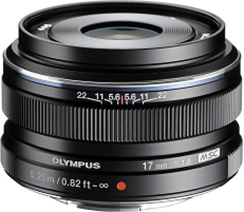 Olympus PEN M.ZUIKO DIGITAL 17mm 1:1.8 Weitwinkel Objektiv in schwarz