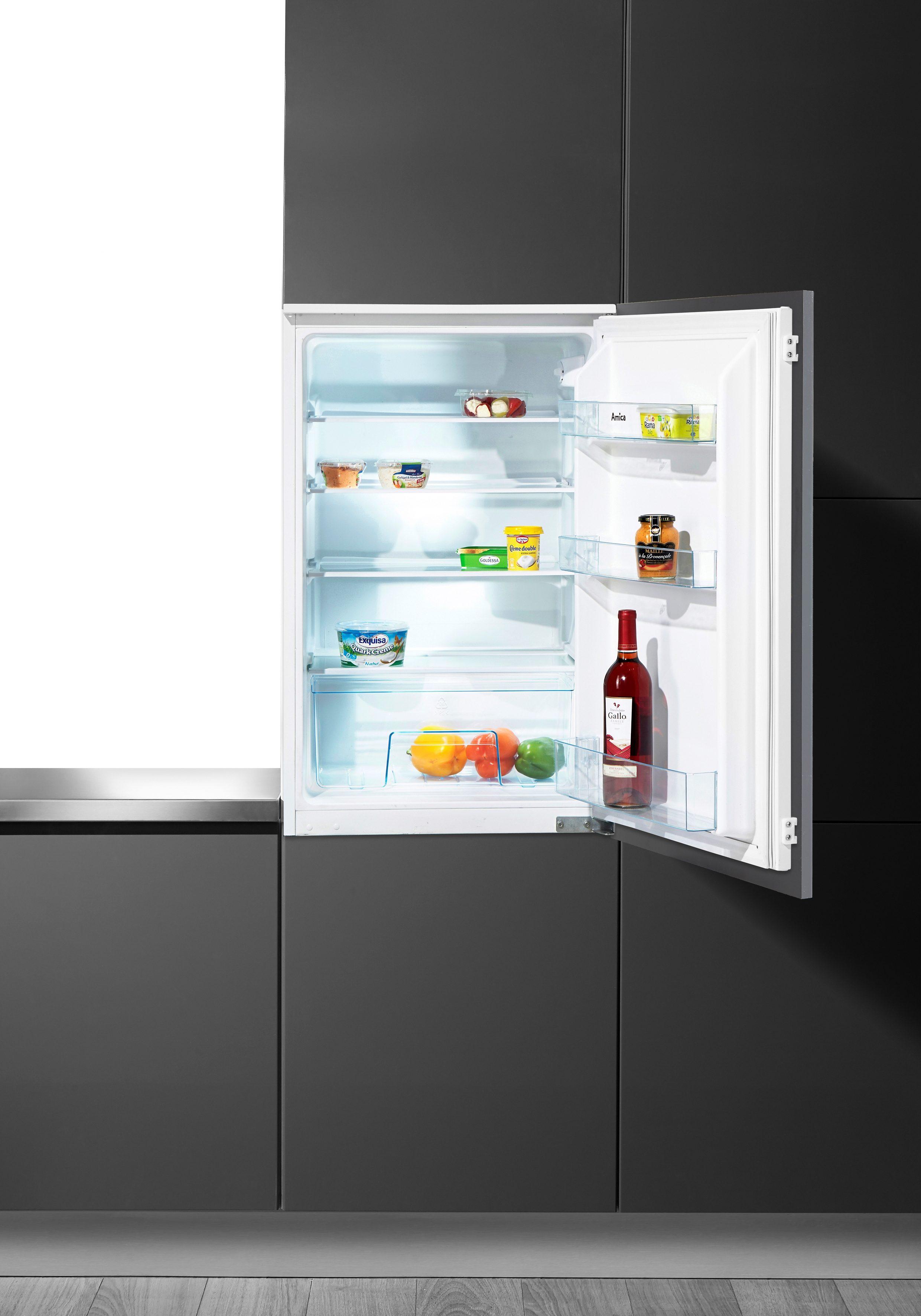 Amica Einbaukühlschrank EVKS 16162, 88 cm hoch, 54 cm breit, A+, integrierbar