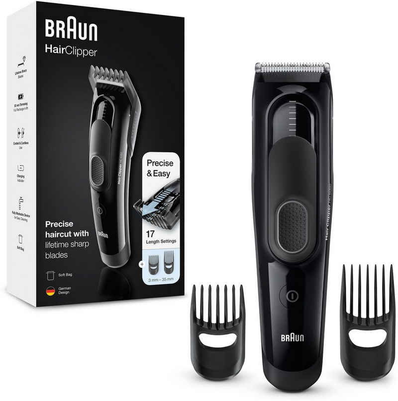 Braun Haar- und Bartschneider HC5050, ultimatives Haarschneiden, Erlebnis von Braun in 17 Längen