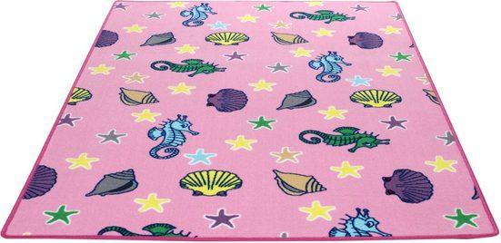Kinderteppich »Meereswelt Muschel«, Living Line, rechteckig, Höhe 7 mm, Velours