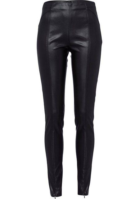Hosen - BLUE FIRE Leggings »DONNA« in edel schimmernder Leder Optik › schwarz  - Onlineshop OTTO