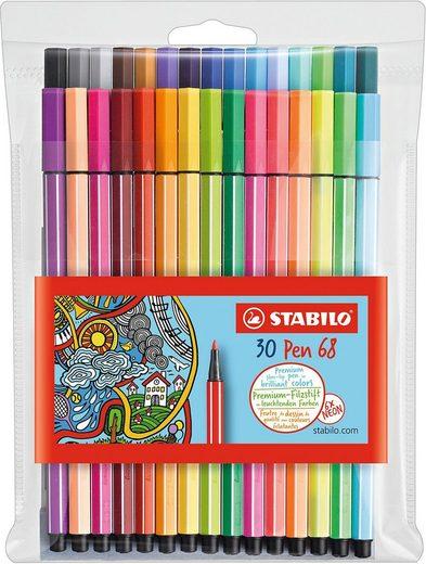 STABILO Dekorierstift »Filzstifte Pen 68 NEON, 24 & 6 Farben«