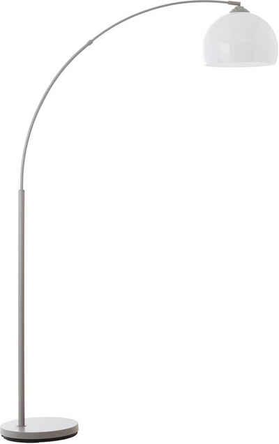 Lüttenhütt Bogenlampe »Klaas«, grau/weiß, E27, max. 40W, H: 166 cm