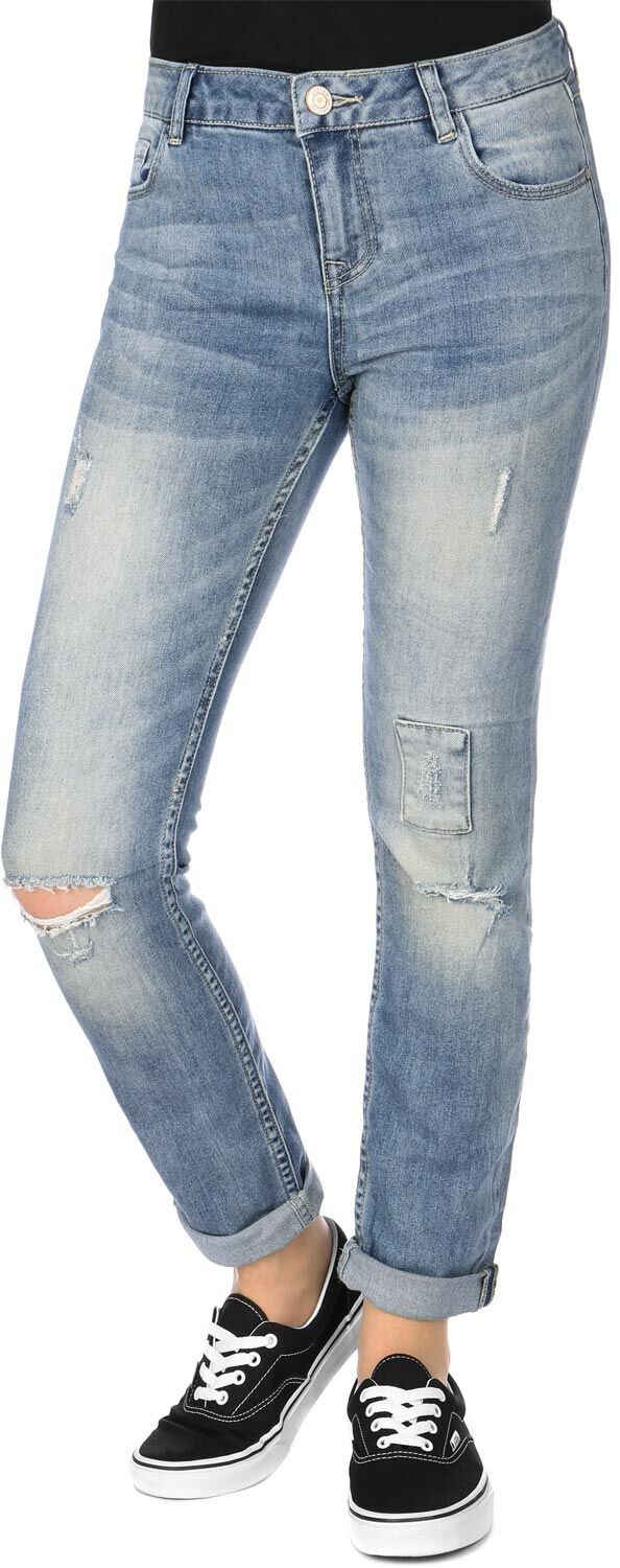 REVIEW Slim-fit-Jeans »Slim Patch Destroyed W«