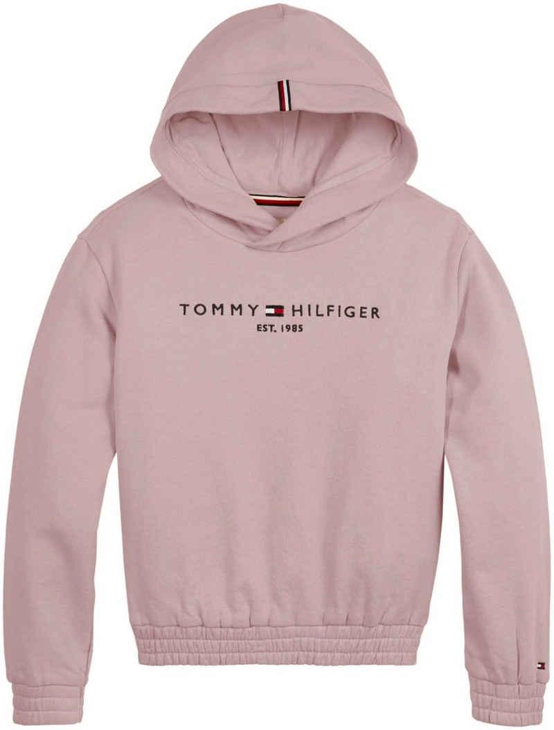 Tommy Hilfiger Kapuzensweatshirt »ESSENTIAL HOODIE« mit Gummizügen