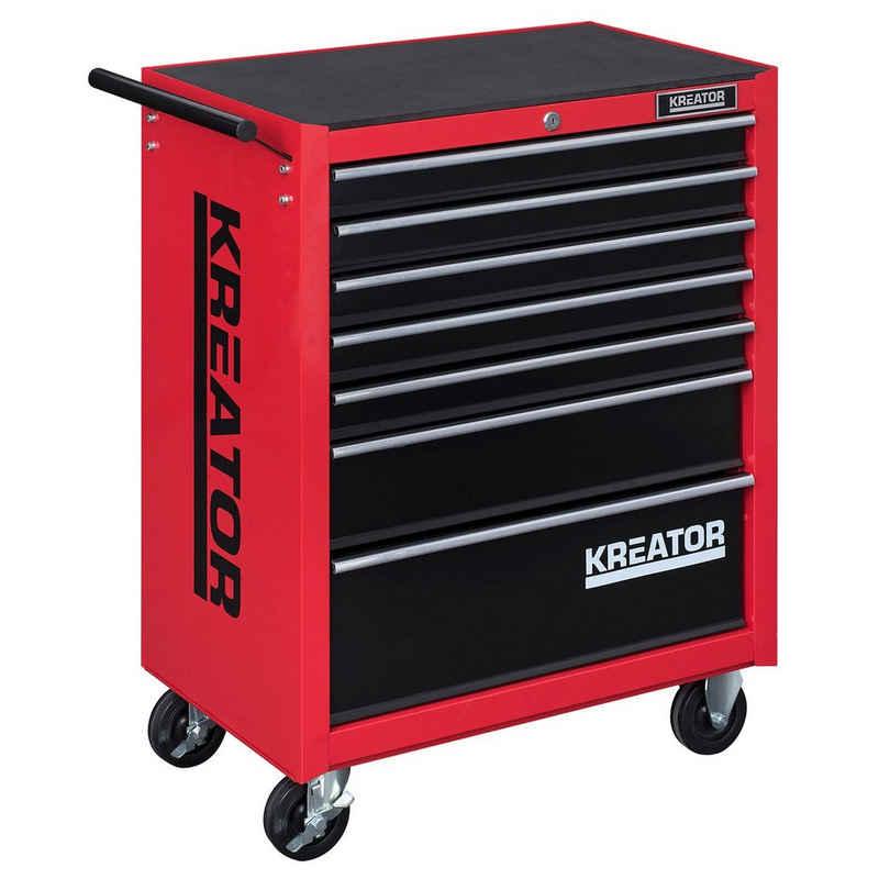 Kreator Aufbewahrungsbox »Mobiler Werkstattwagen Werkzeugwagen abschließbar 7 Schubladen - Auswahl«