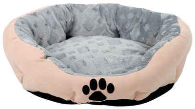 SILVIO design Tierbett »Snow M«, BxLxH: 46x56x19 cm, sandfarben