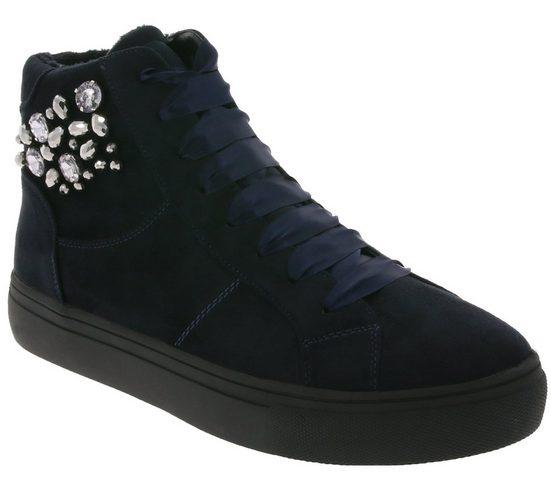 Supremo »supremo Schuhe Plateau Stiefel modische Damen Schnür-Boots mit Samt-Schnürsenkeln Sneaker Navy« Schnürstiefel
