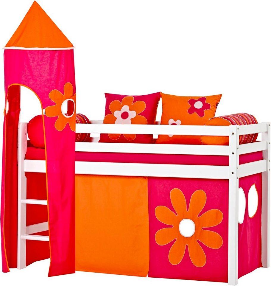 Hoppekids Halbhohes Bett »Flowerpower« in Flowerpower-Motiv