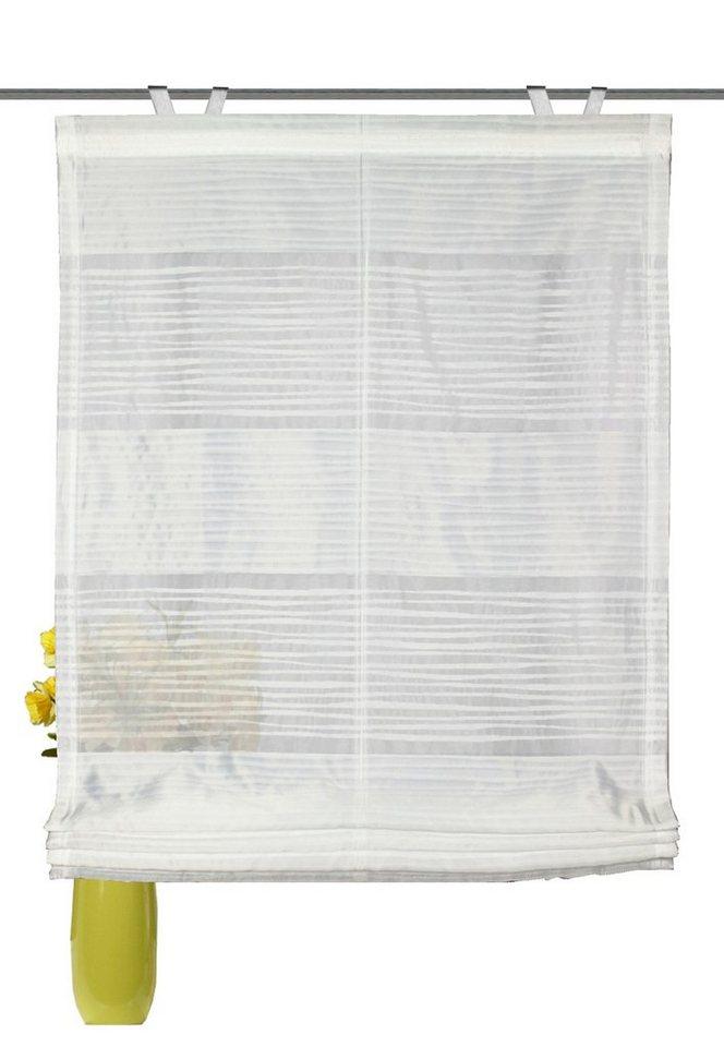Raffrollo, Home Wohnideen, »Rodez«, mit Hakenaufhängung, ohne Bohren (1 Stück) in weiß