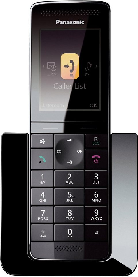 Panasonic KX-PRS110GW Schnurloses DECT Telefon in schwarz