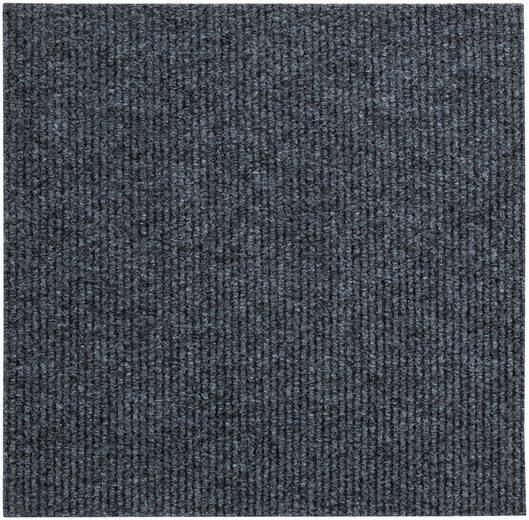 Teppichfliese »Rippe«, Andiamo, rechteckig, Höhe 4 mm, 4 Stück (1 m), selbstklebend, für Stuhlrollen geeignet