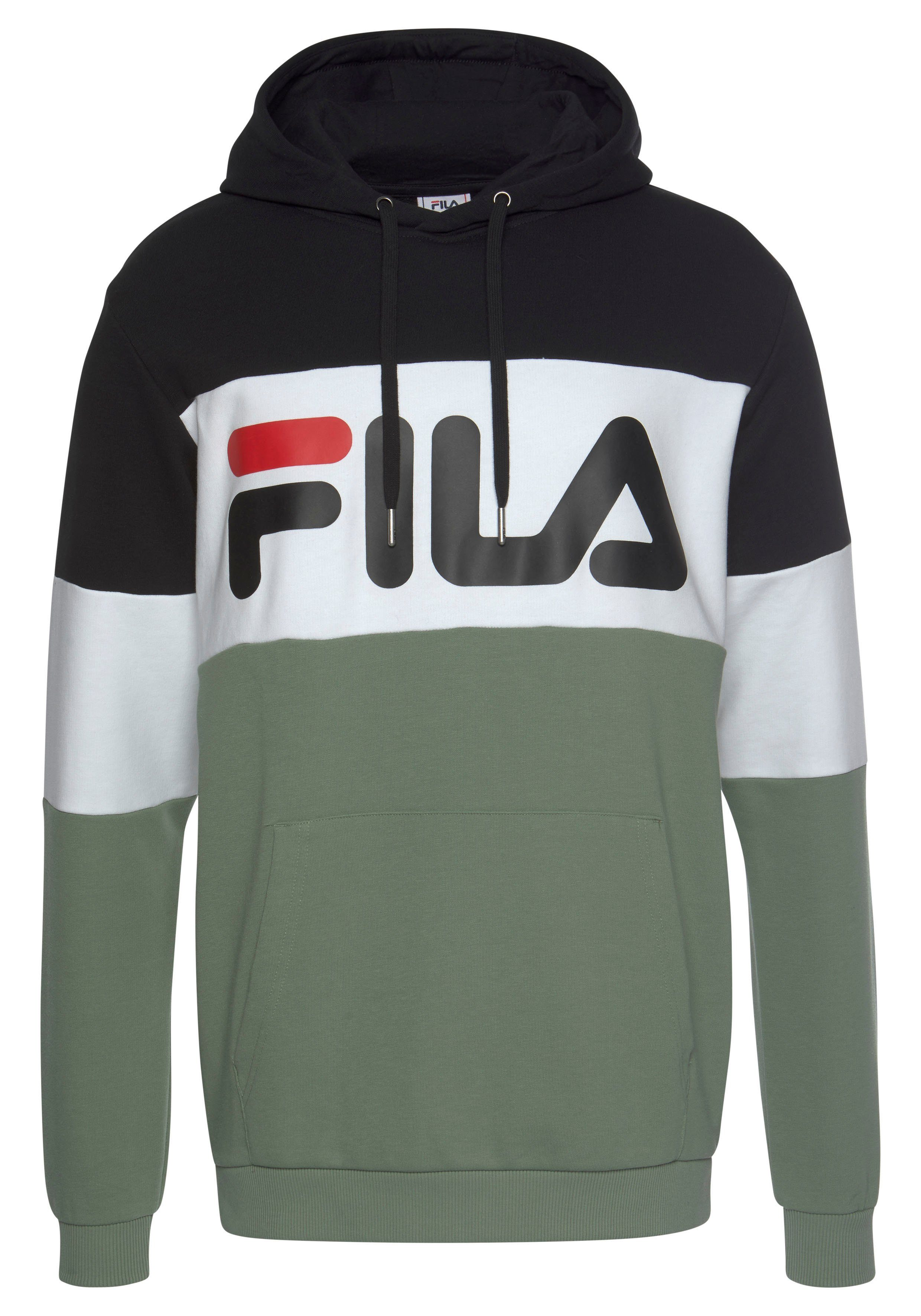 Fila Kapuzensweatshirt NIGHT blocked hoody brushed
