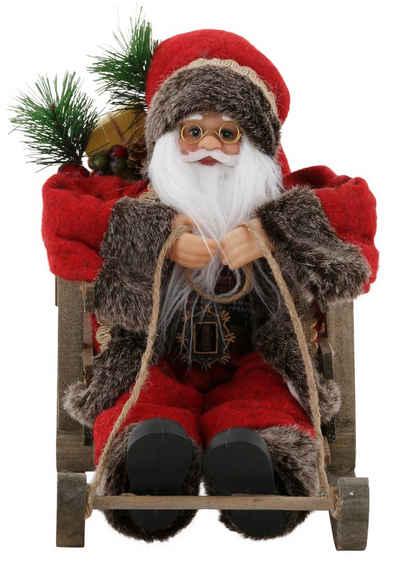my home Weihnachtsmann, auf Schlitten, Höhe ca. 27,5 cm