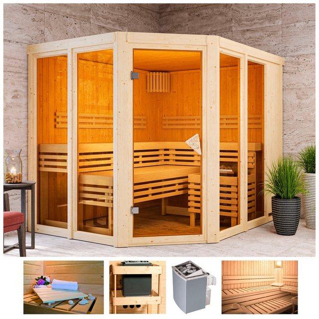 Saunen und Zubehör - KARIBU Sauna »Aaina 3«, 231x196x198 cm, 9 kW Ofen mit int. Steuerung  - Onlineshop OTTO