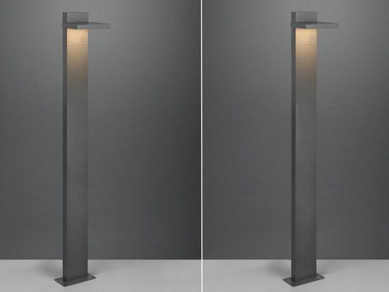 meineWunschleuchte LED Pollerleuchte, 2er Set Wegebeleuchtung für Außen Outdoor Stehlampe schwenkbar Garten Terrassen-Leuchte, Anthrazit 100cm