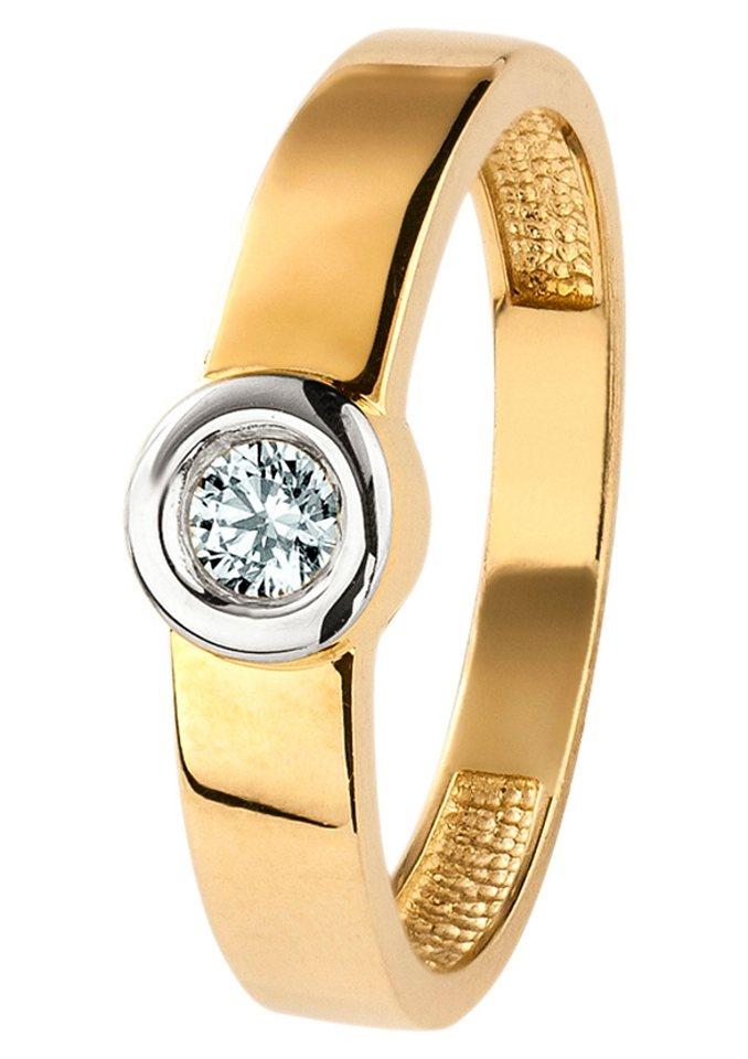 firetti Ring mit Zirkonia in goldfarben
