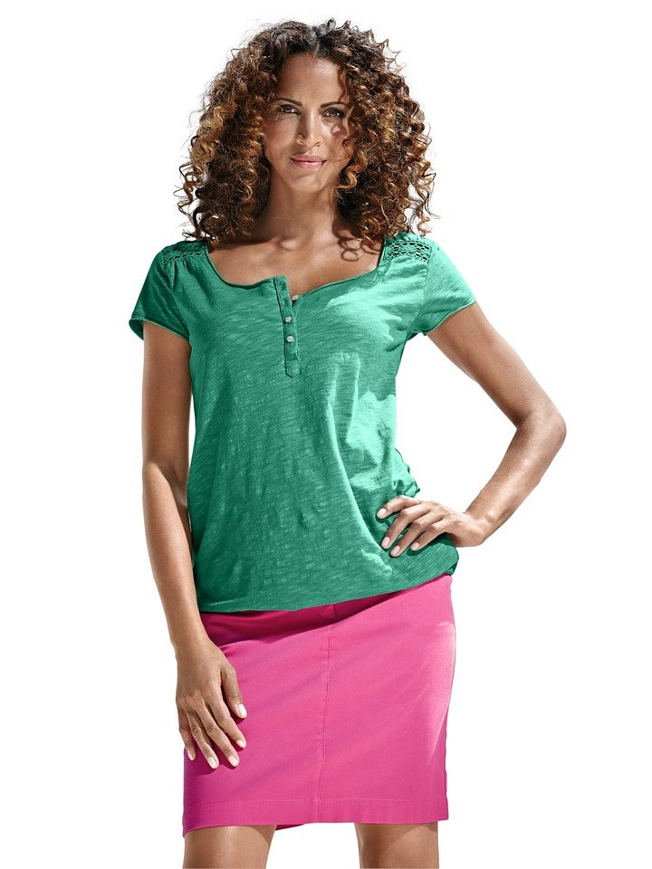 Rundhalsshirt in grün