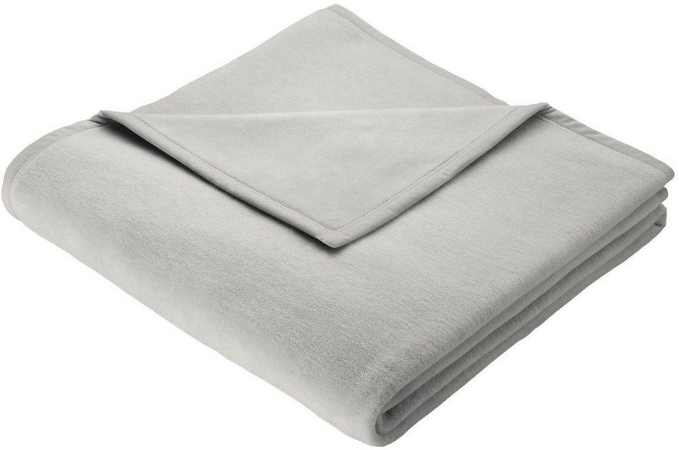 Wohndecke, Biederlack, »Orion Cotton«, mit Veloursband-Einfassung in silber