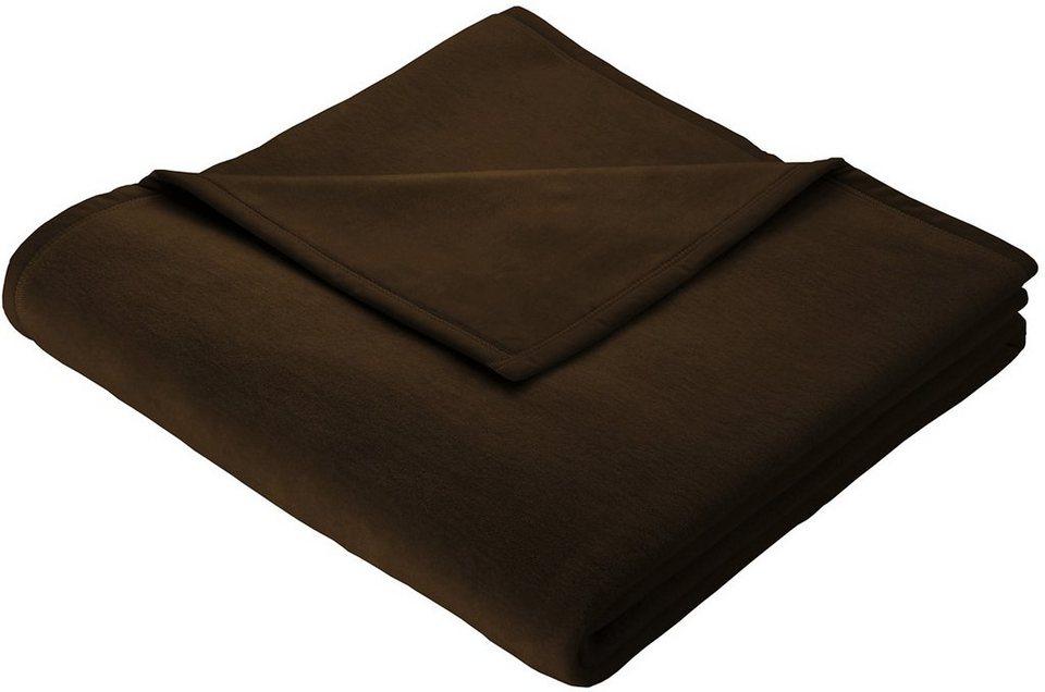Wohndecke, Biederlack, »Orion Cotton«, mit Veloursband-Einfassung in dunkelbraun