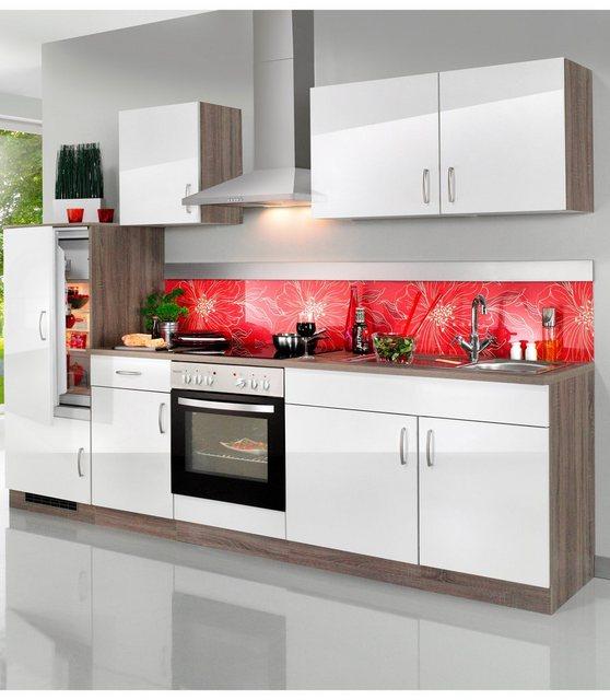 Einbauküchen - WIHO KÜCHEN Küchenzeile mit E Geräten »Porto«, Breite 270 cm  - Onlineshop OTTO