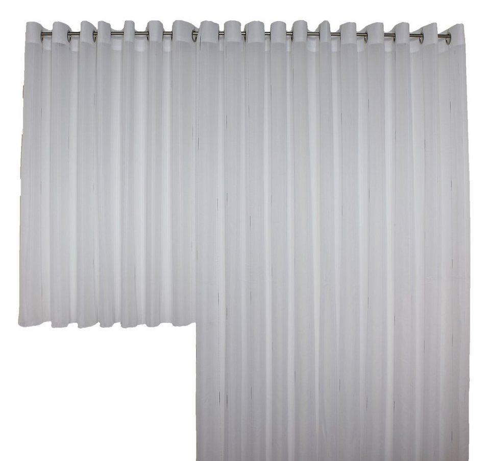 Vorhang, Wirth, »Theresa«, mit Ösen (1 Stück) in weiß