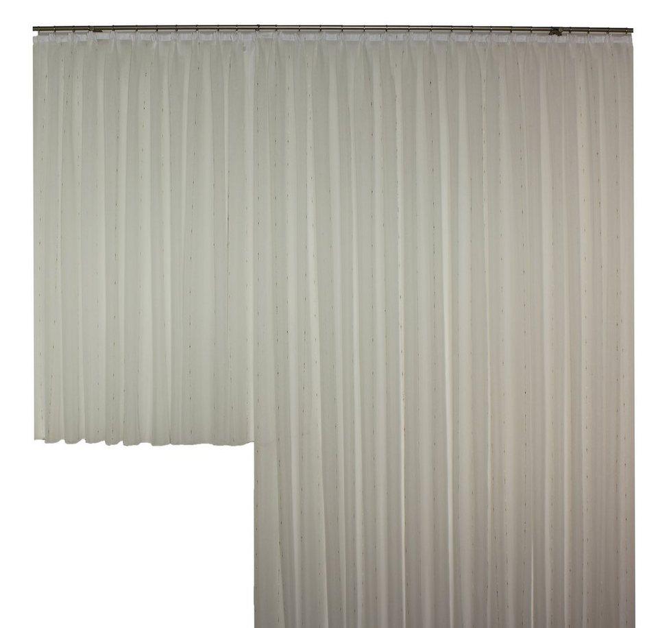 Vorhang, Wirth, »Anja mit Faltenband« (1 Stück) in weiß