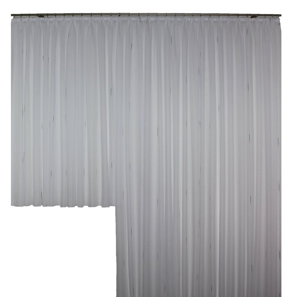 Vorhang, Wirth, »Theresa mit Faltenband« (1 Stück) in weiß