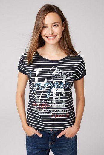 SOCCX T-Shirt mit verlängerter Rückenpartie