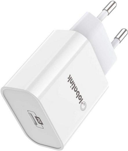 GlobaLink »GlobaLink 20W iPhone Schnelladegerät« Smartphone-Ladegerät (20Watt mA, Lade Stecker mit USB C Anschluss, 1-tlg., iPhone Schnellladegerät, 20W iPhone Schnellladegerät, GlobaLink USB C Ladegerät Power Delivery 3.0 Schnellladegerät iPhone Fast Charger Kompatibel mit iPhone 12,12 Pro,12 Pro Max,12 Mini,11,11 Pro,iPad Pro 2020, Galaxy,Pixel)