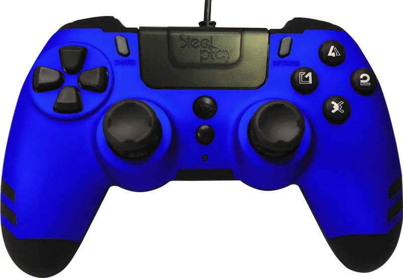 Steelplay »Metaltech Blau PS4« Gaming-Controller