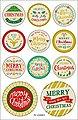 Folia Sticker »Weihnachtszeit«, 44 Stück, Bild 2