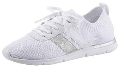 Tommy Hilfiger »FEMININE LIGHTWEIGHT SNEAKER« Slip-On Sneaker mit Glitzer-Streifen