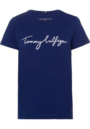 TOMMY HILFIGER Rundhalsshirt »CREW NECK GRAPHIC TEE« mit Tommy Hilfiger Logo