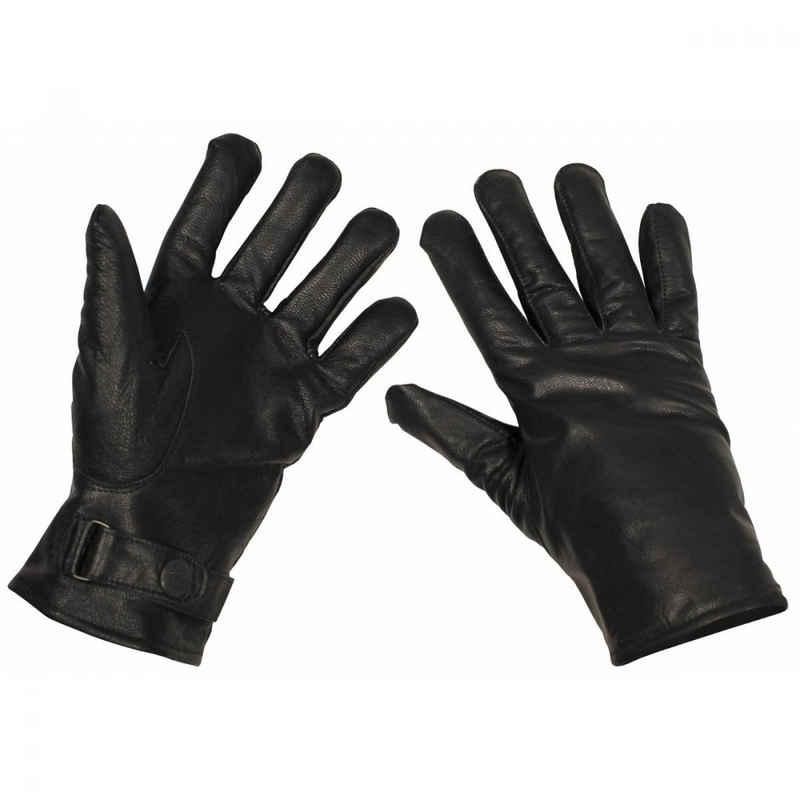 MFH Lederhandschuhe »BW Lederhandschuhe, gefüttert, schwarz, Mod. - M«