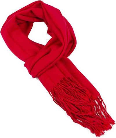 AvaMia Schal »Winterschal warm Anschmiegsamer Stola Schal für jede Gelegenheit, am Ende befinden sich Fransen.« Winterschal