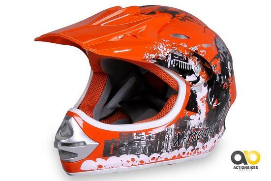 Actionbikes Motors Motocrosshelm »X-treme Orange«